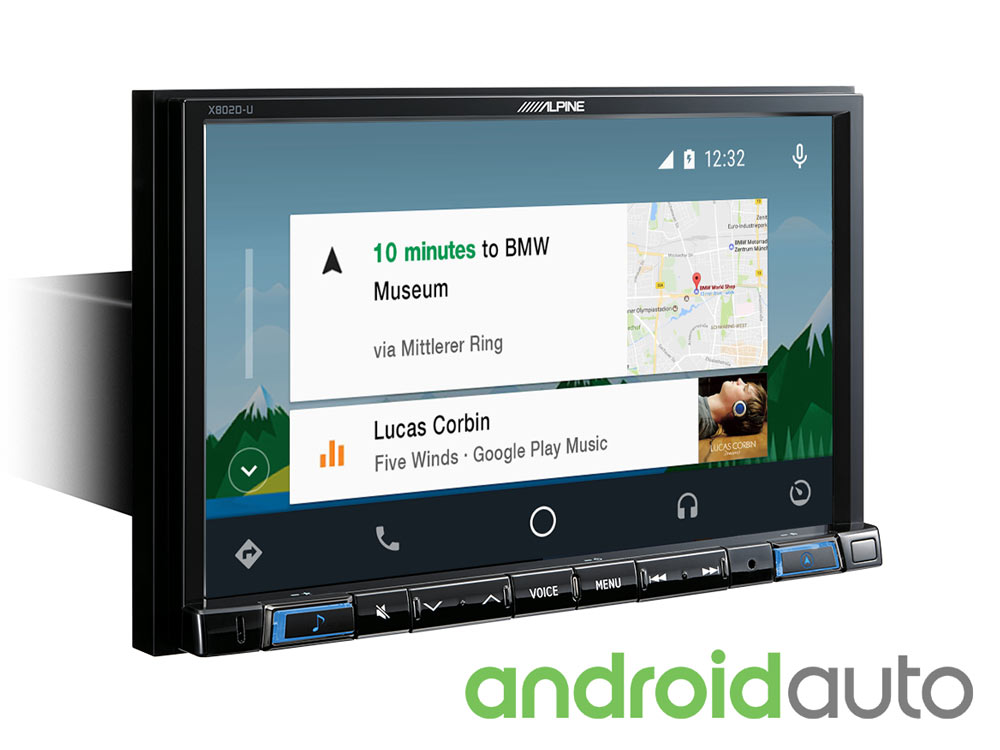 """8"""" Touch Screen Navigation with TomTom maps, compatible with Apple"""