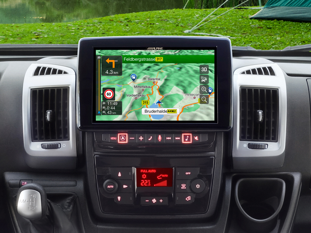"9"" Touch Screen Navigation for Fiat Ducato 3, Citroën Jumper"