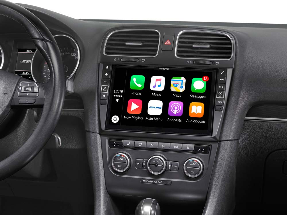 9 Mobile Media System For Volkswagen Golf 6 Featuring Apple