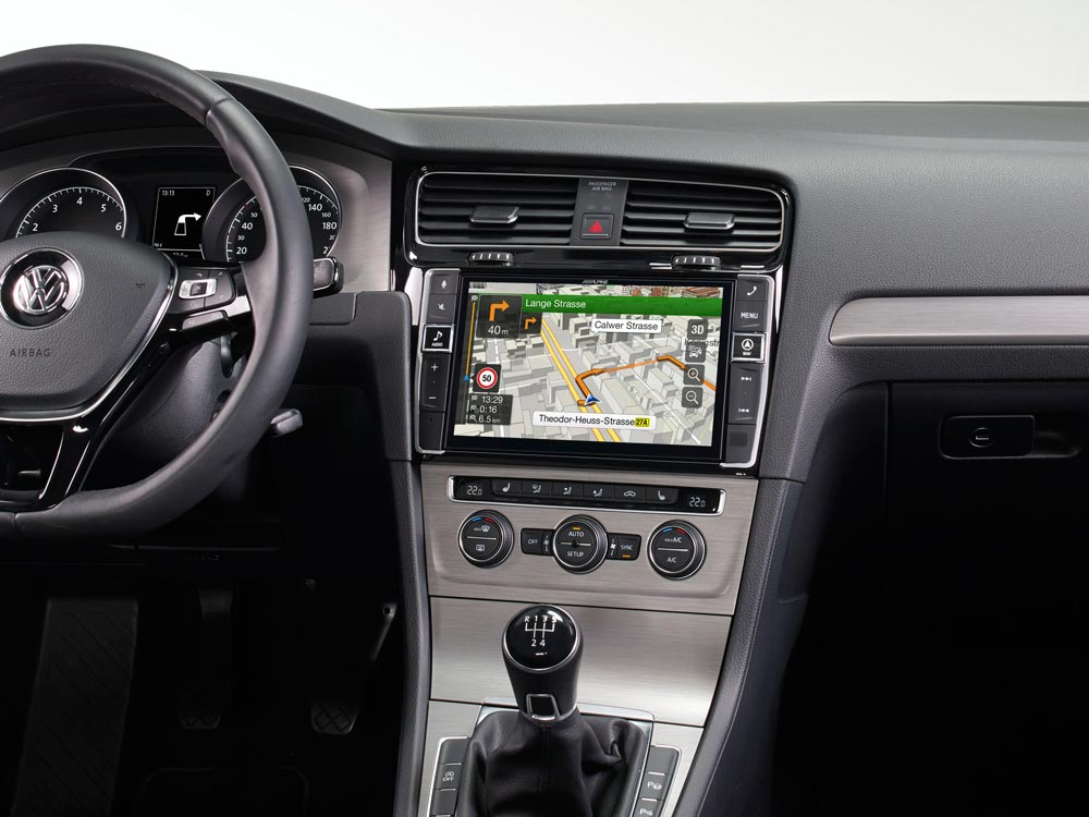 9 Touch Screen Navigation For Volkswagen Golf 7 With Tomtom Maps