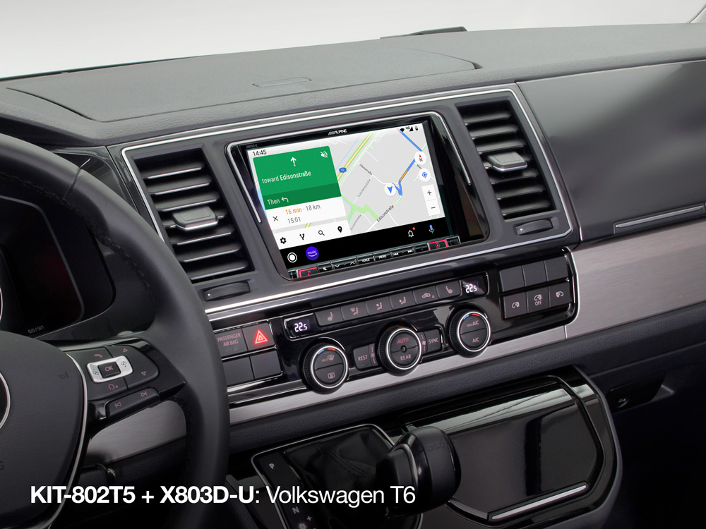 8 inch Installation Kit for Volkswagen T5 Facelift and T6 (7 H/E/J