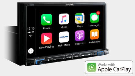 Works with Apple CarPlay - iLX-702D