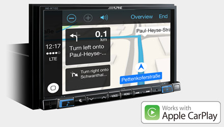 Online Navigation with Apple CarPlay - INE-W710D