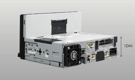 7-inch Screen with 1 DIN chassis