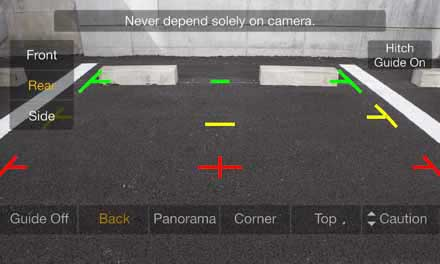 Optional Multi View Rear Camera HCE-C252RD - Rear View