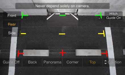 Optional Multi View Rear Camera HCE-C252RD - Top View