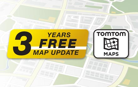 TomTom Maps with 3 Years Free-of-charge updates - X802DC-U