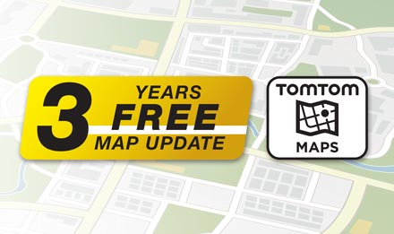 TomTom Maps with 3 Years Free-of-charge updates - X703D-A5