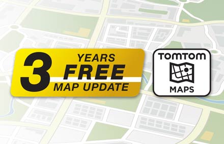 TomTom Maps with 3 Years Free-of-charge updates - X903DC-F