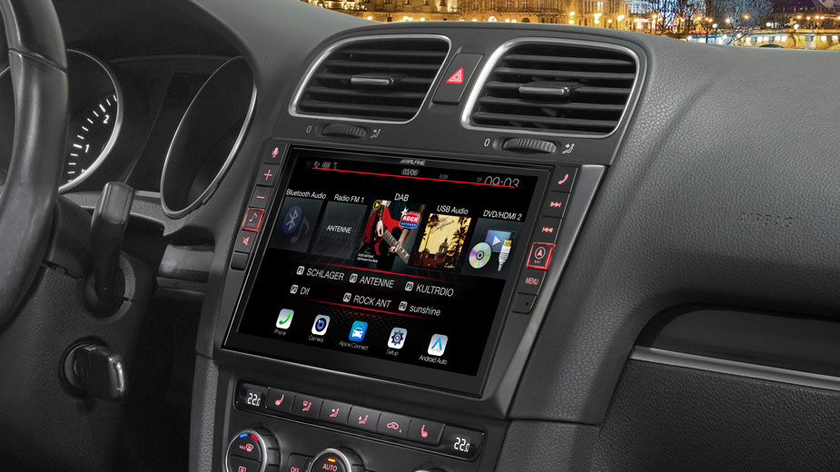 Alpine Style Navigation Designed for Volkswagen Golf 6 - X902D-G6